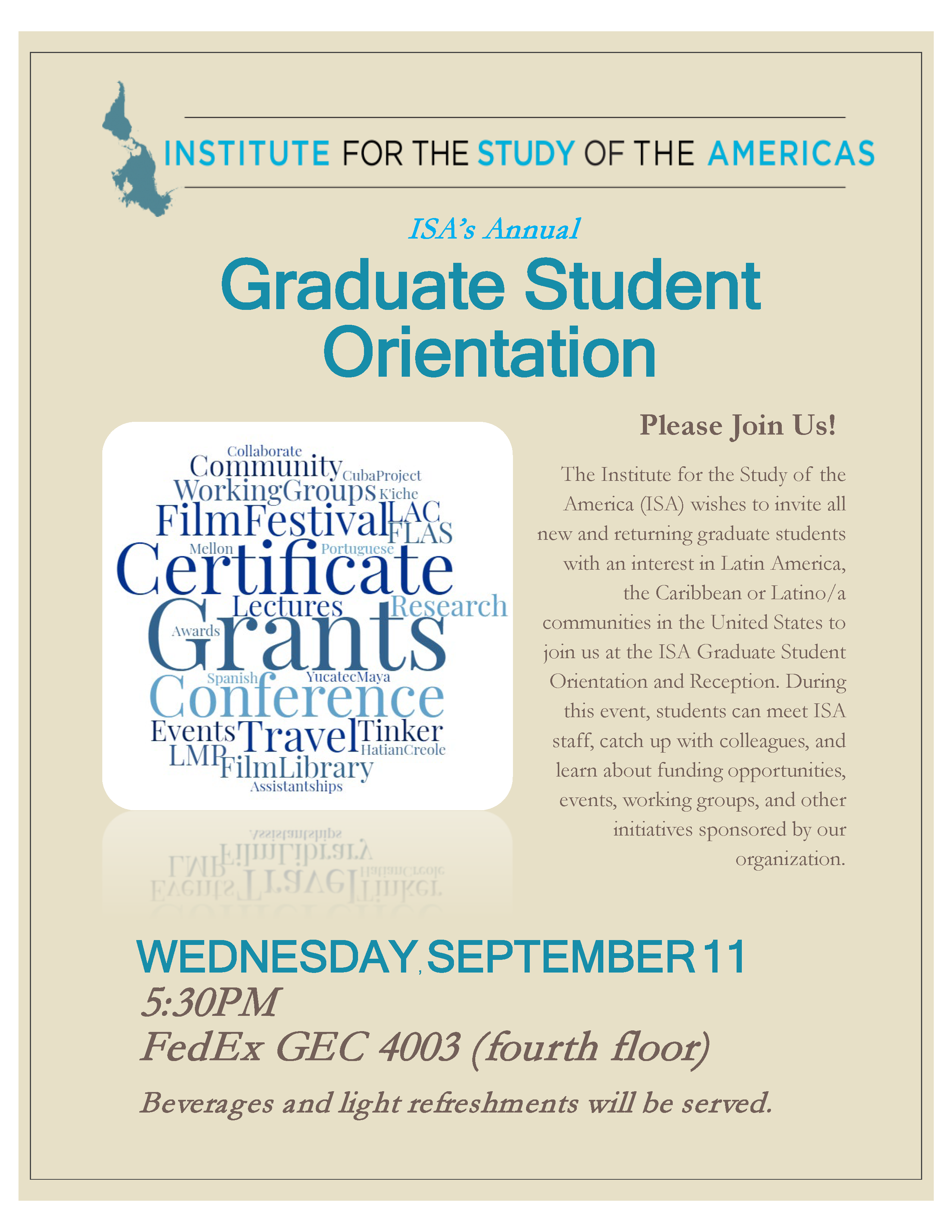 ISA Graduate Student Orientation