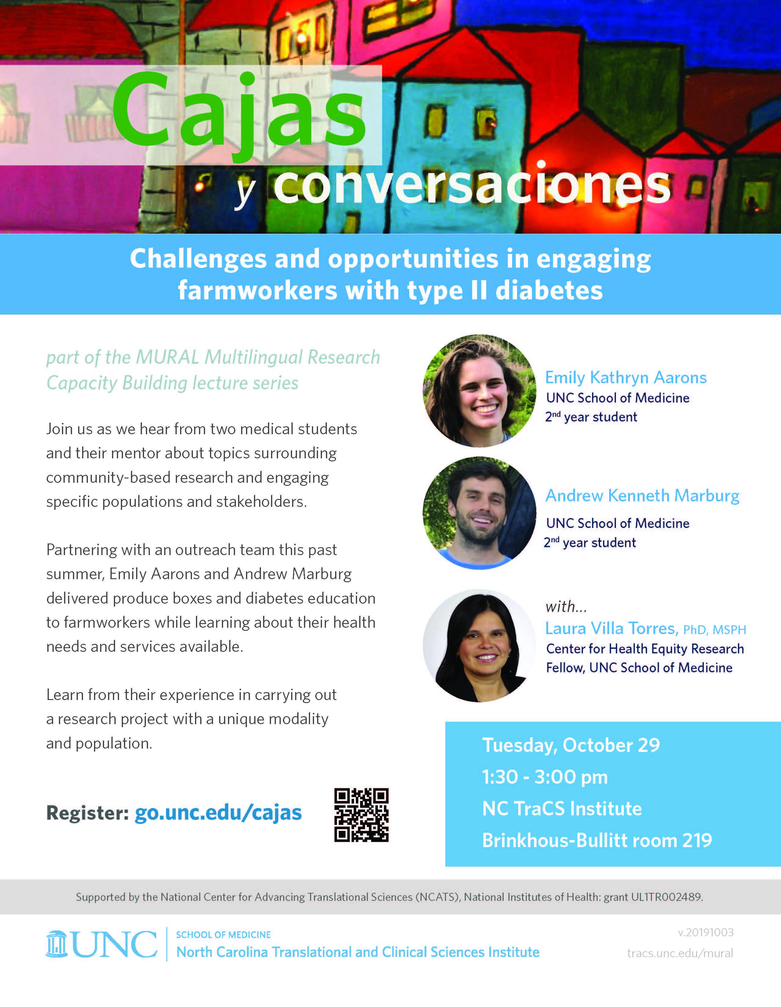 MURAL Multilingual Research Capacity Building Lecture Series: Cajas y Conversaciones