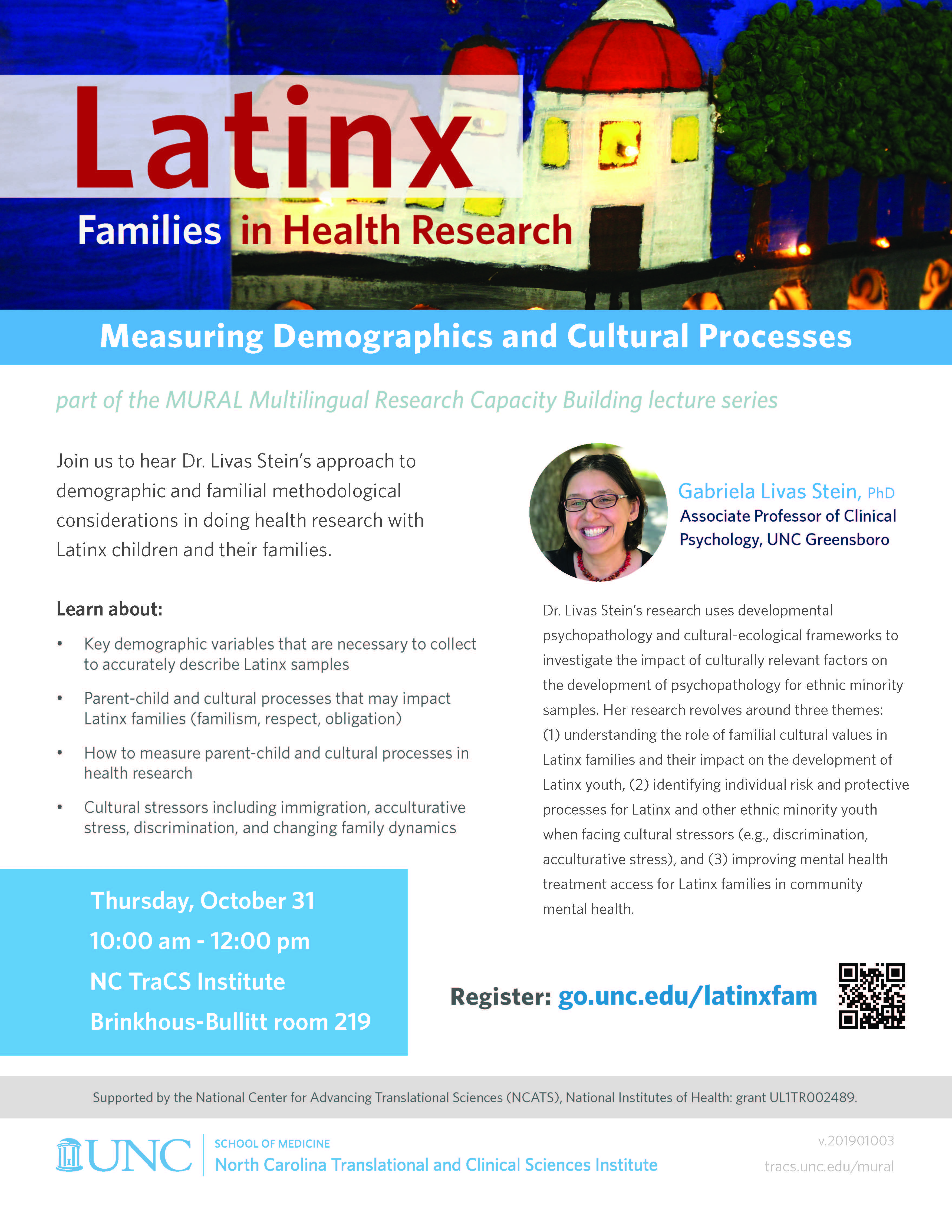 MURAL Multilingual Research Capacity Building Lecture Series: Latinx Families in Health Research