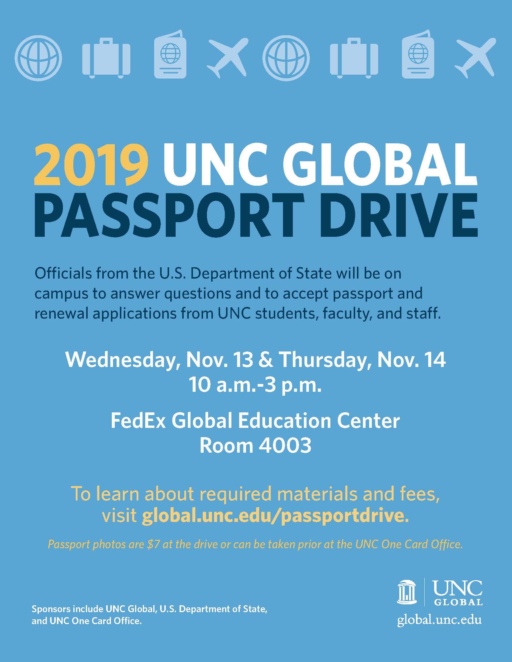 UNC Global Passport Drive
