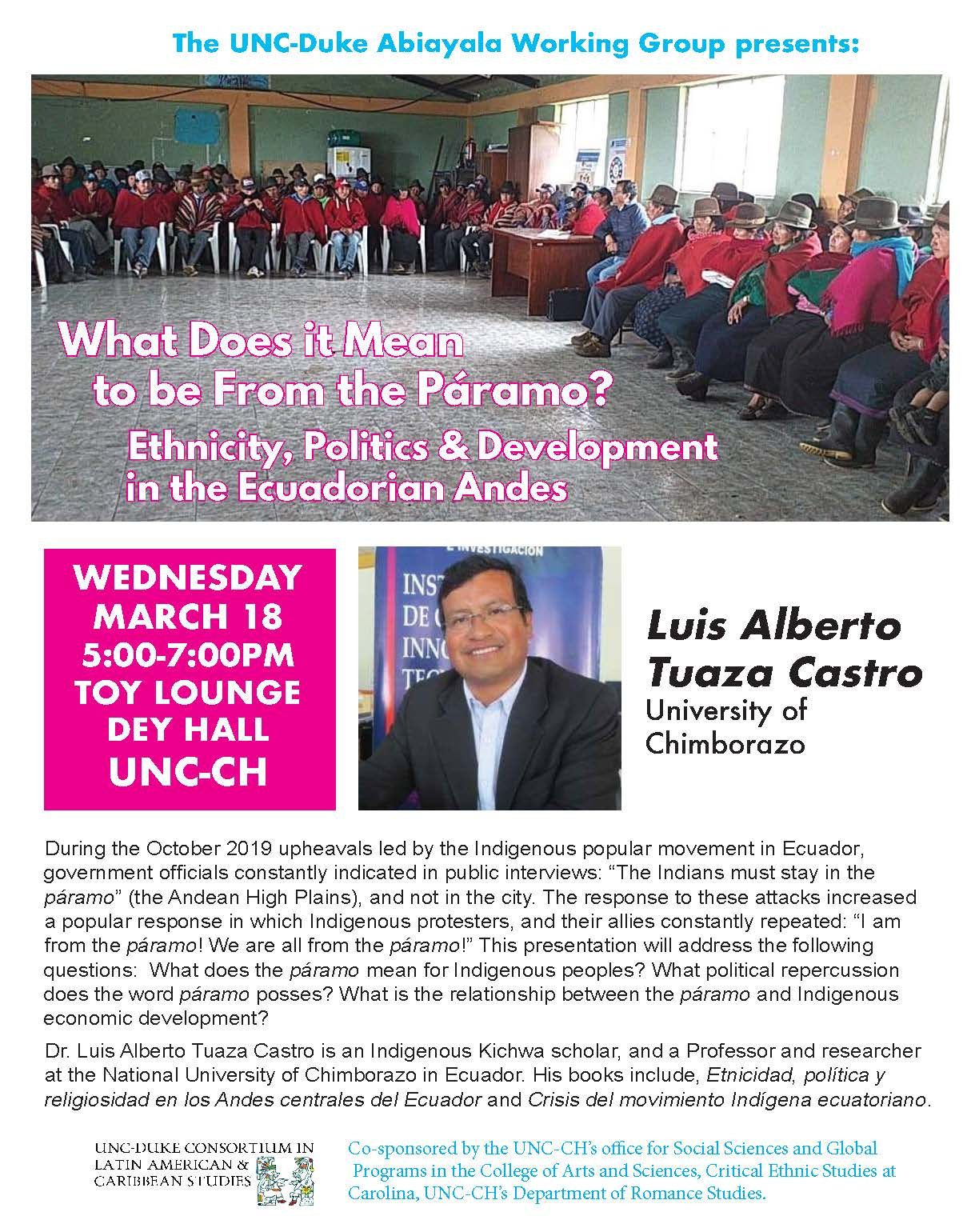 What Does it Mean to be From the Páramo? Ethnicity, Politics & Development in the Ecuadorian Andes