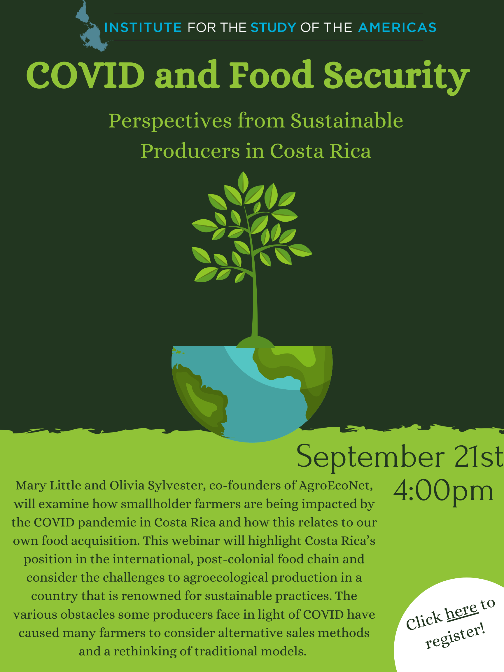 """COVID and Food Security: Perspectives from <br />Sustainable Producers in Costa Rica"""" class=""""img-responsive""""><br /> <button type="""
