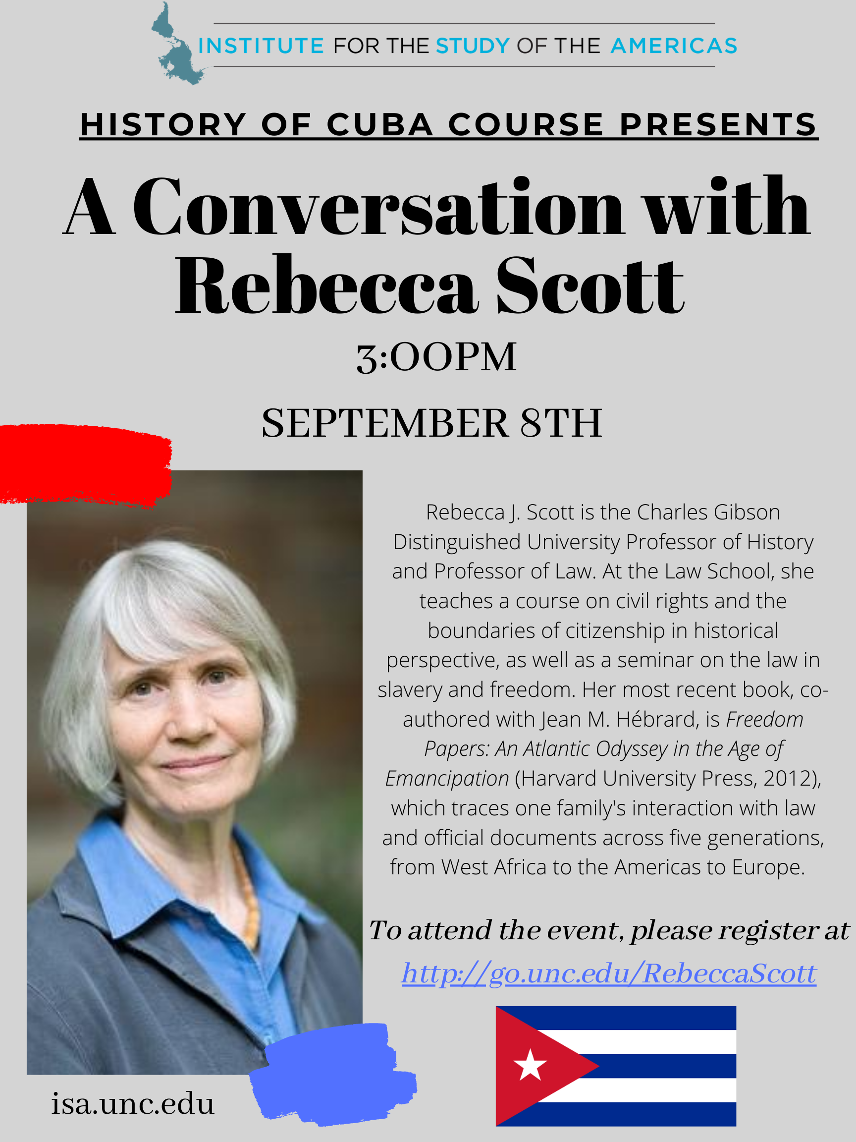 Conversation with Rebecca Scott in The History of Cuba course
