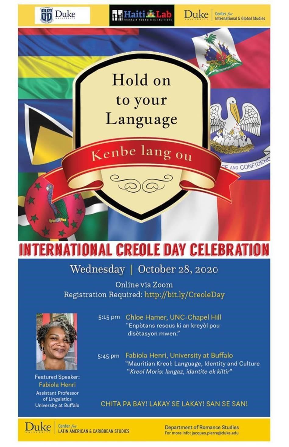 International Creole Day Celebration with Chloe Hamer