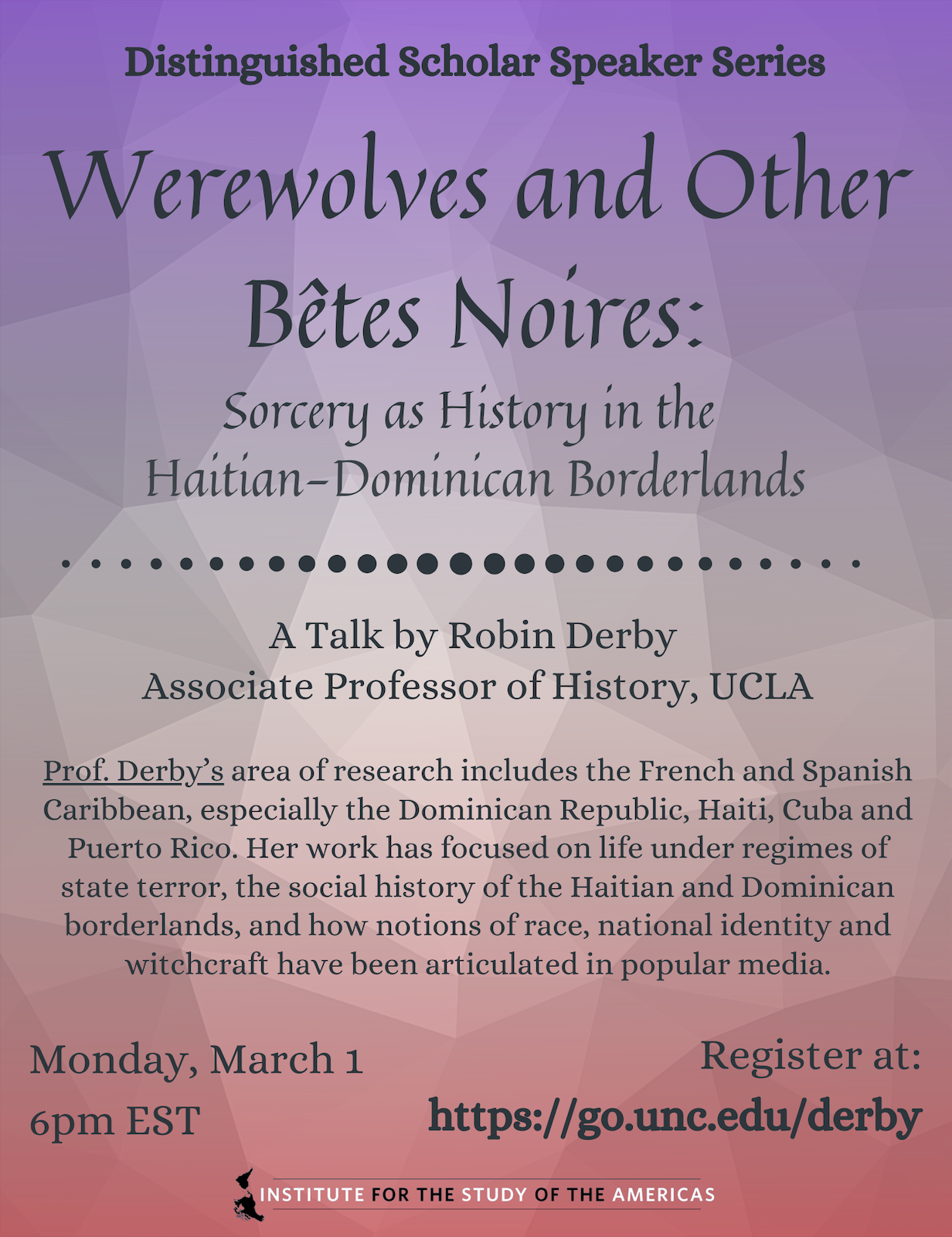 Scholar Speaker Series: Werewolves & Other Bêtes Noires
