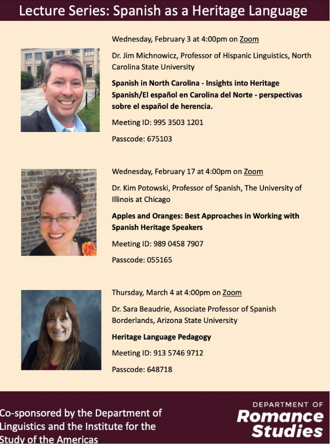 Lecture Series: Spanish as a Heritage Language - Apples and Oranges