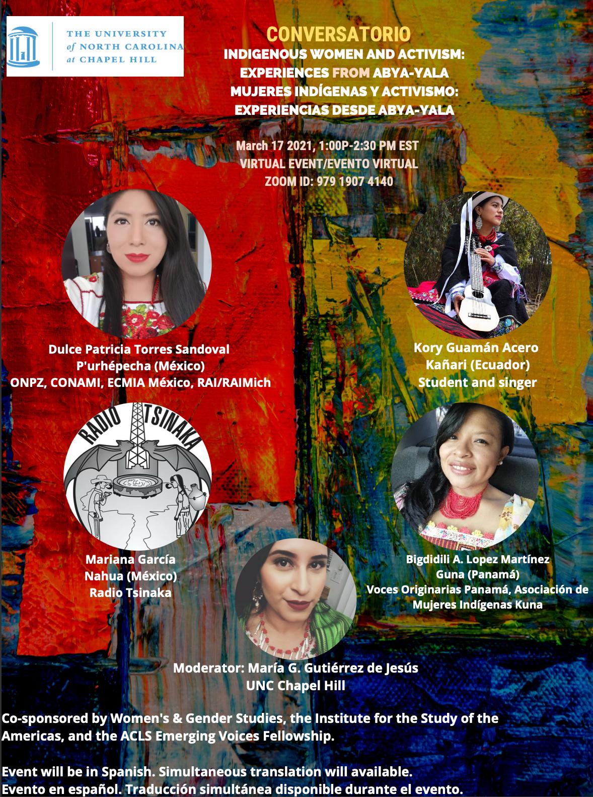 Conversatorio - Indigenous Women and Activism: Experiences from Abya-Yala