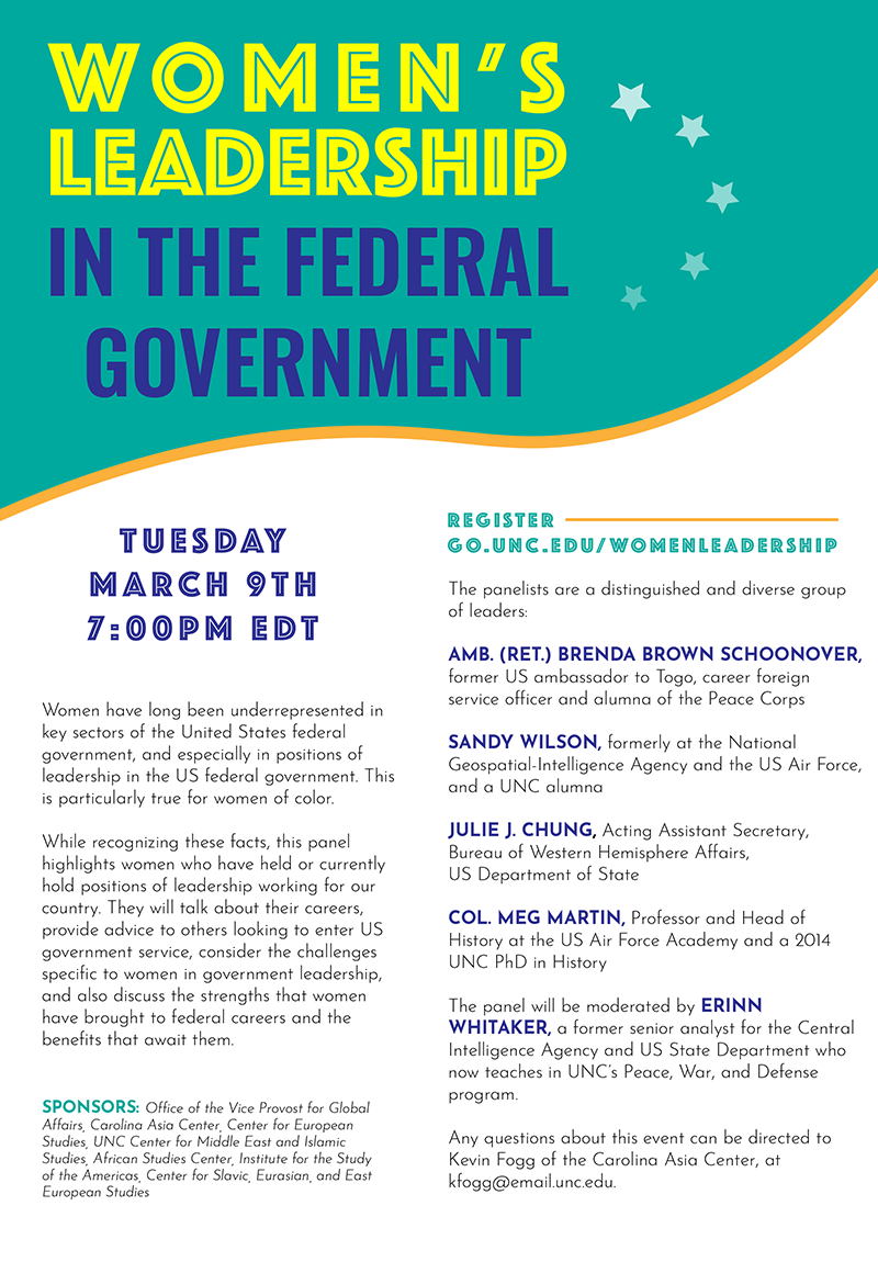 Women's Leadership in the Federal Government