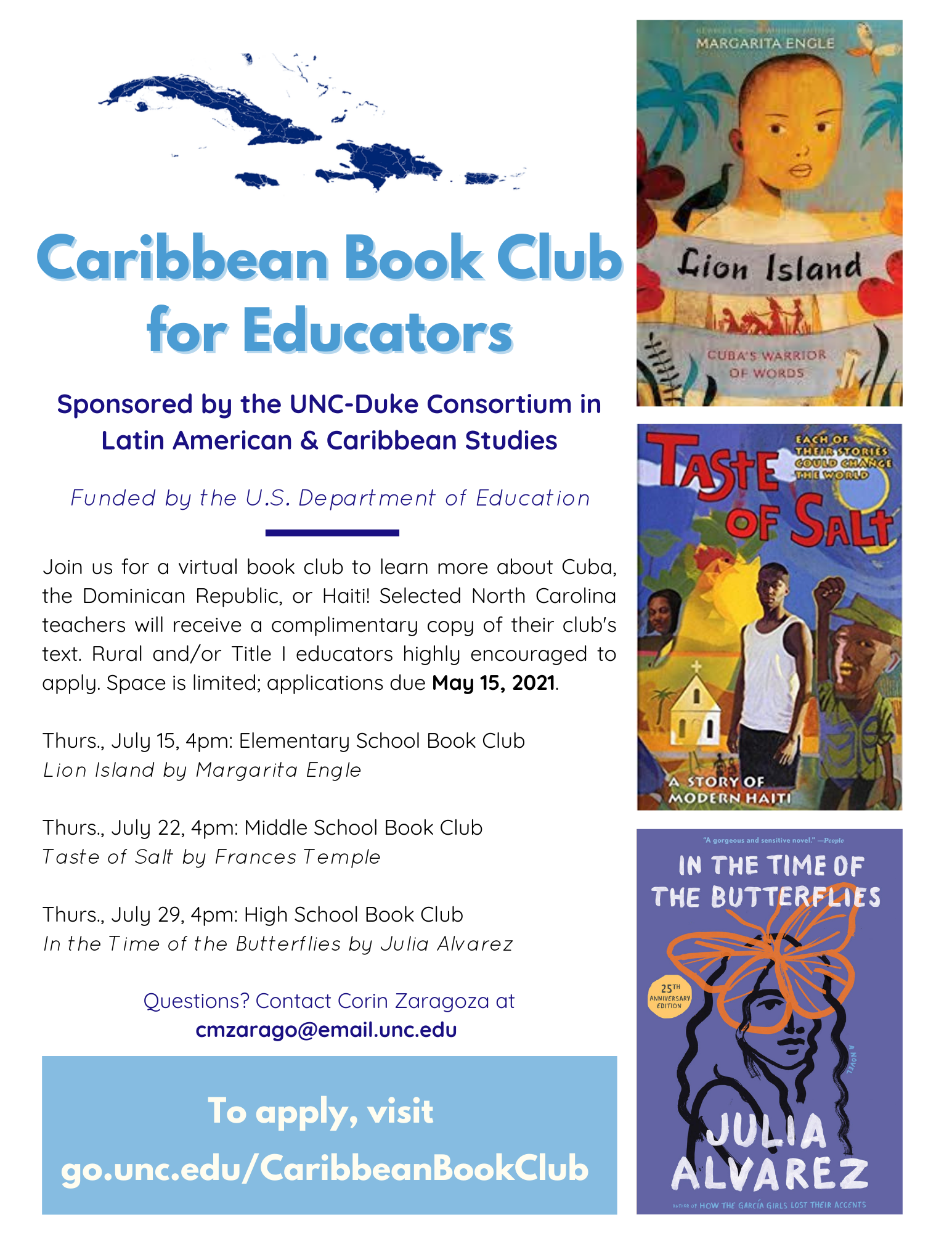 Caribbean Book Club for Educators - Middle School